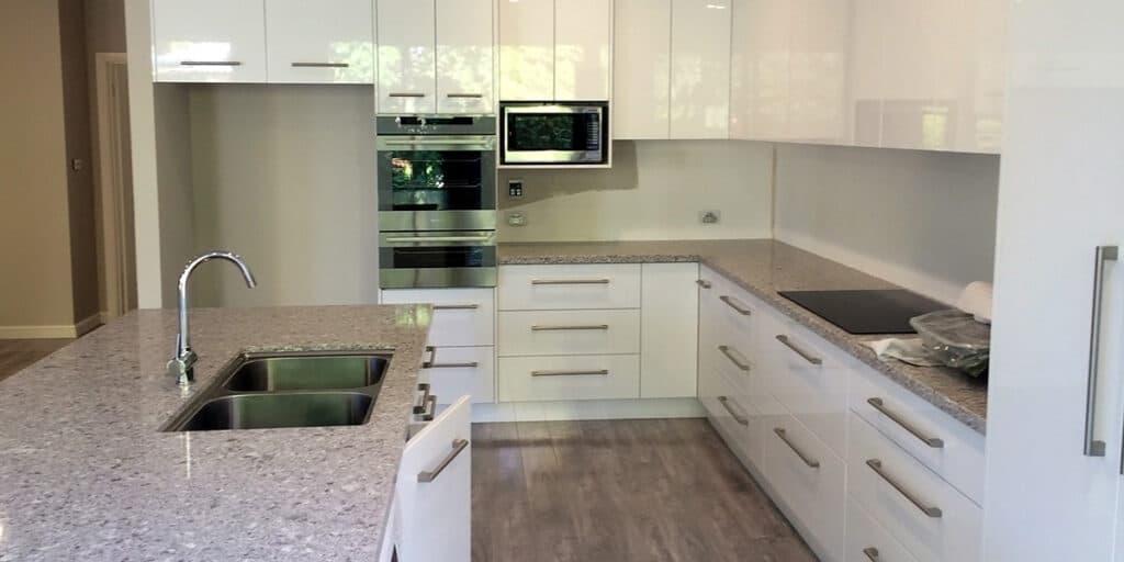 Simple clean white modern kitchen